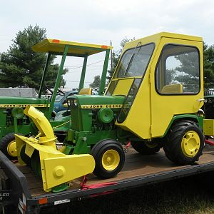 John Deere 140H3 with Snowthrower and Hinson Cab