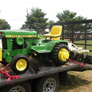 John Deere 140H3 with Center Blade and Brinly Disc