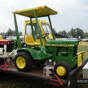 John Deere 140H1 with Brinly Cultivator
